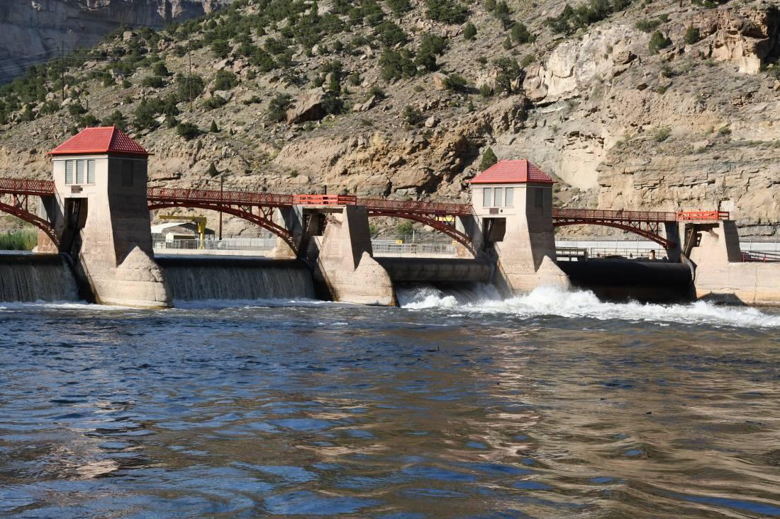Debeque Canyon spillway